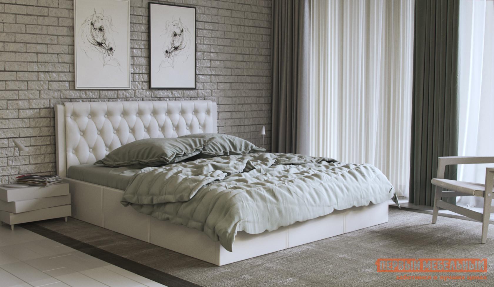 Двуспальная кровать Первый Мебельный Кровать с подъемным механизмом Моника