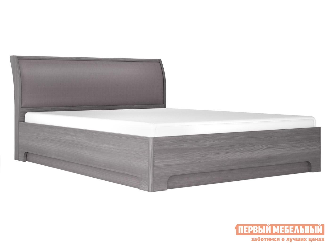 Двуспальная кровать  Кровать-3 с подъемным ортопед. основанием Лиственница темная / Экокожа дила, 1600 Х 2000 мм