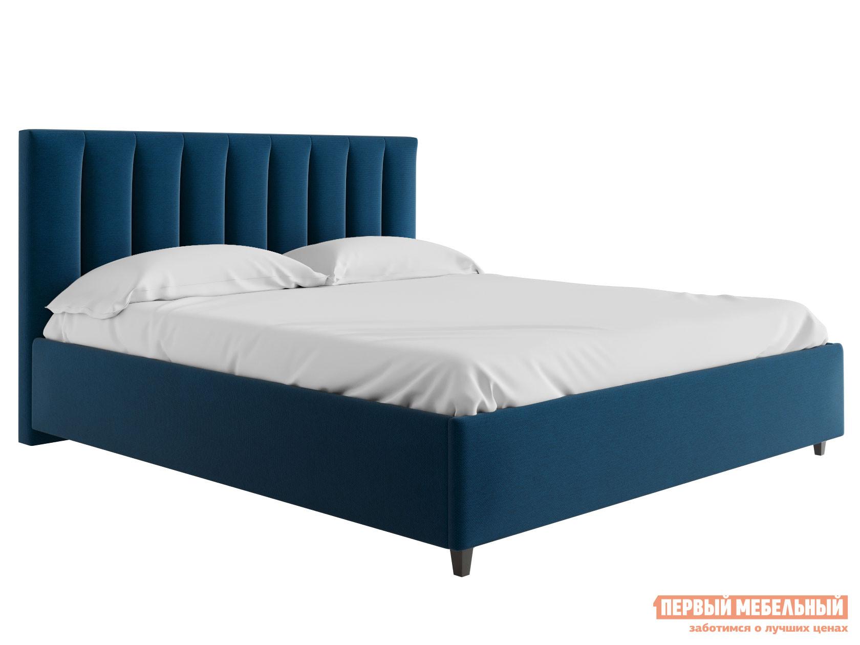 Двуспальная кровать  Кровать с подъемным механизмом Ванесса Синий, рогожка, 1400 Х 2000 мм