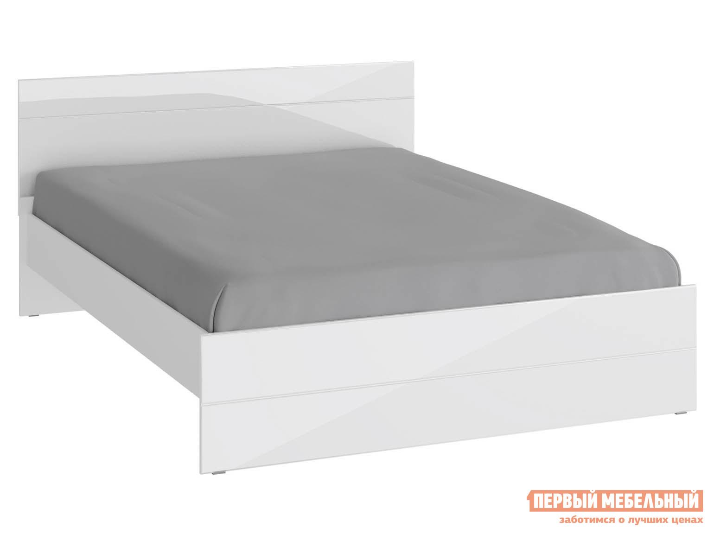 Двуспальная кровать  Глосс Белый / Белый глянец, 160х200 см