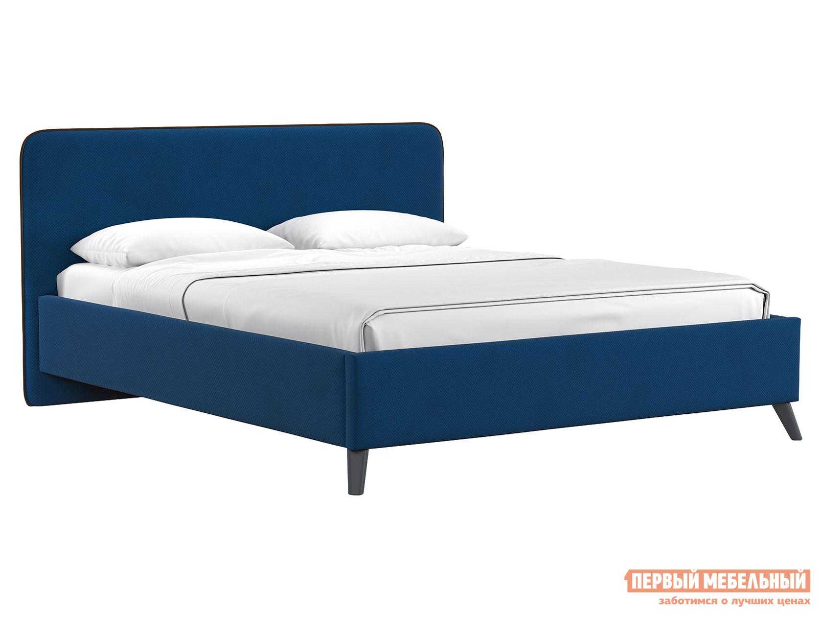 Двуспальная кровать  Кровать с подъемным механизмом Миа 1600 Х 2000 мм, Сапфировый, велюр
