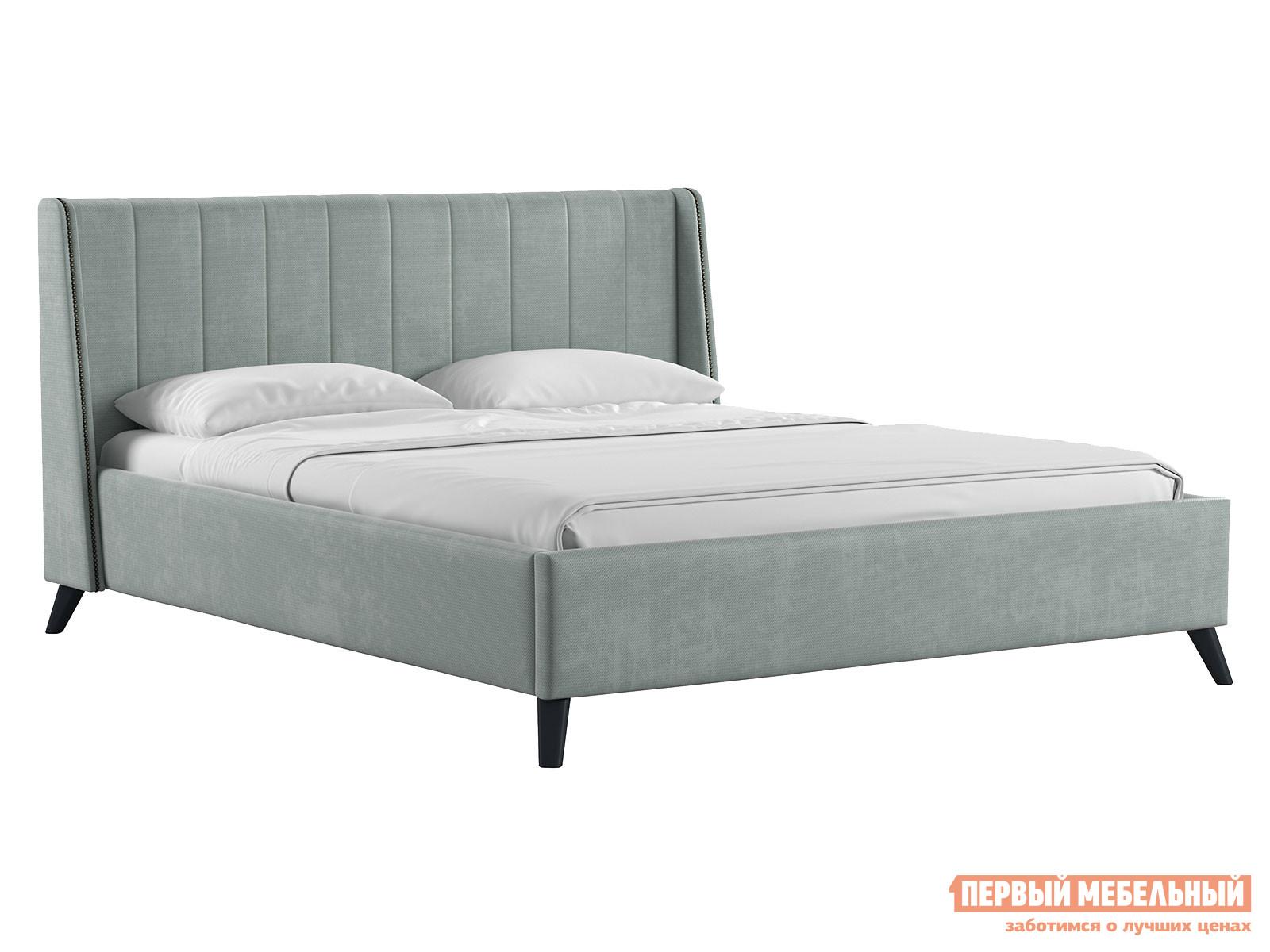 Двуспальная кровать  Кровать Мелисса с подъемным механизмом 160х200 Серебристый серый, велюр