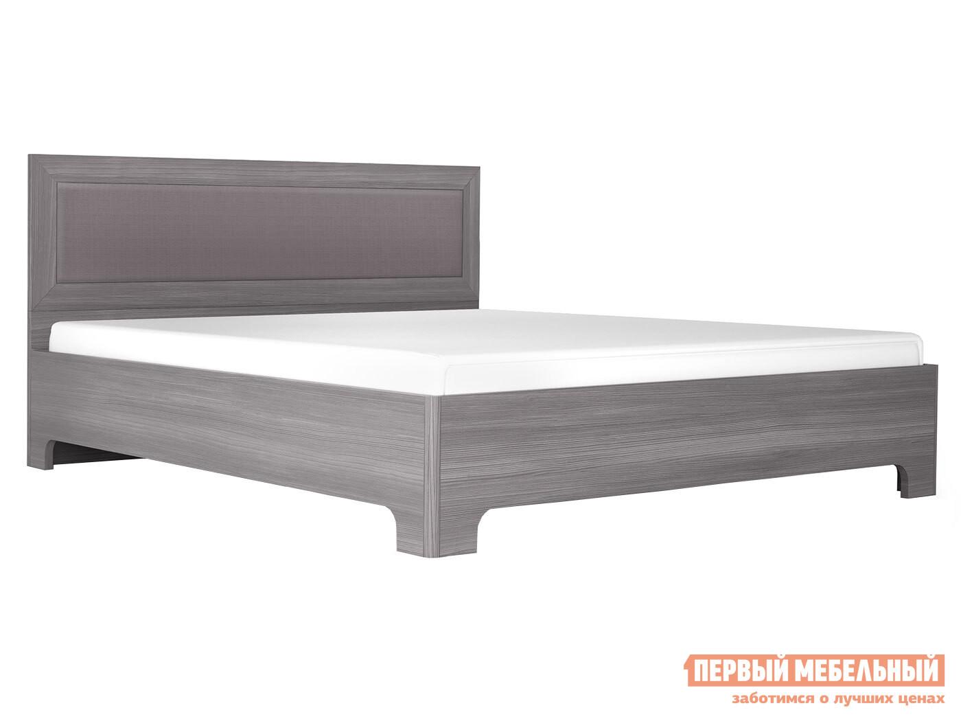 Двуспальная кровать  Кровать-1 с ортопед. основанием Лиственница темная / Экокожа дила, 1600 Х 2000 мм