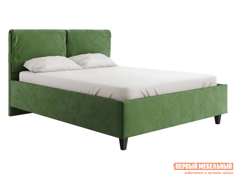 Двуспальная кровать  Кровать Лаура с подъемным механизмом 140х200, 160х200, 180х200 Зеленый, микровелюр, 160х200 см
