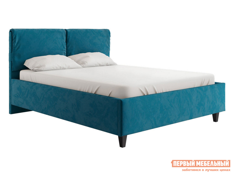 Двуспальная кровать  Кровать Лаура с подъемным механизмом 140х200, 160х200, 180х200 Синий, микровелюр, 180х200 см