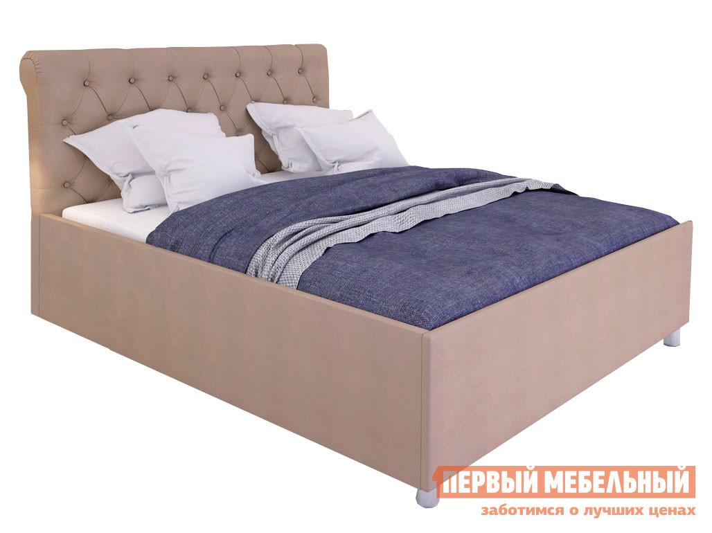 Двуспальная кровать  с подъемным механизмом Офелия Латте, экокожа, 1800 Х 2000 мм Первый Мебельный 99986
