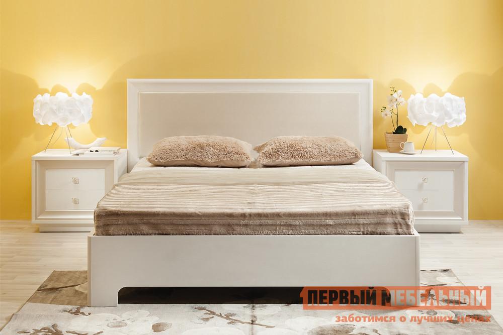 Двуспальная кровать Первый Мебельный Прато 1 напольное зеркало первый мебельный прато вз