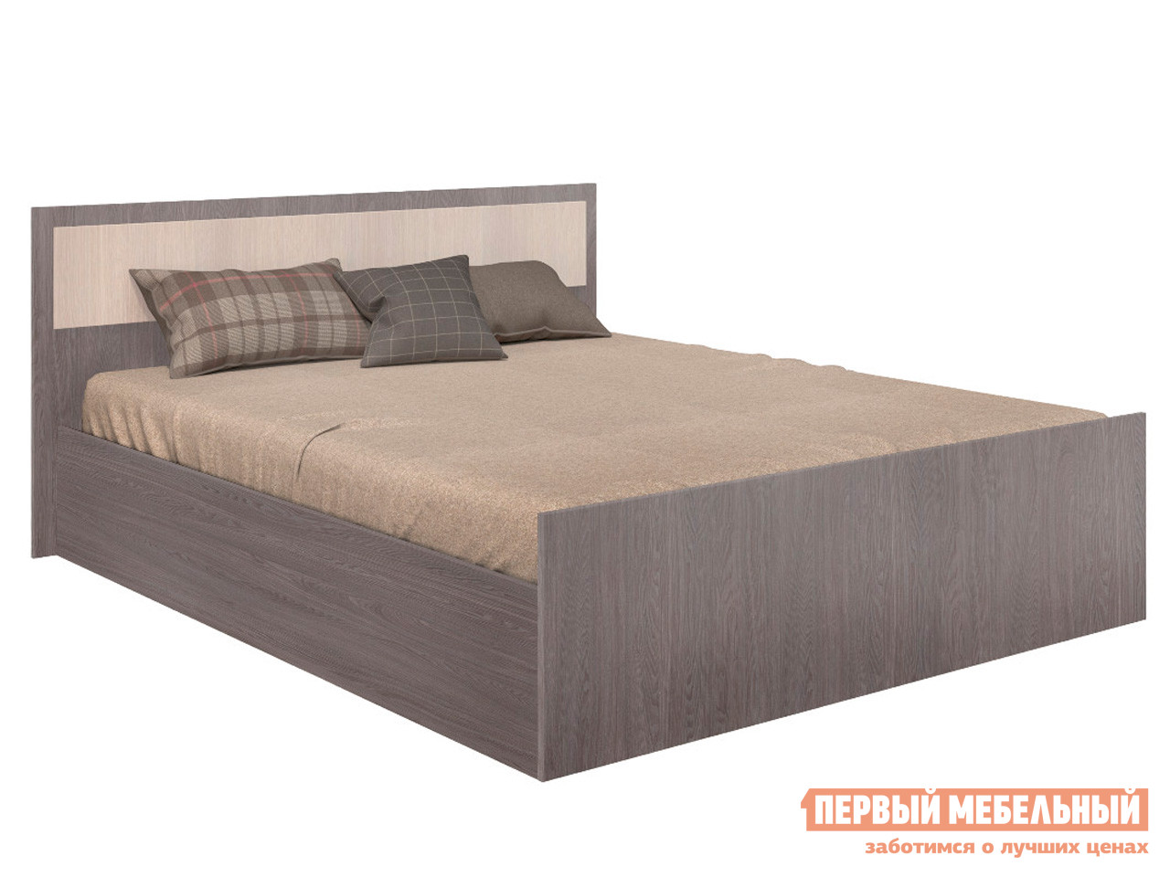 Двуспальная кровать  Кровать Фиеста Ясень темный / Ясень светлый, 140х200 см
