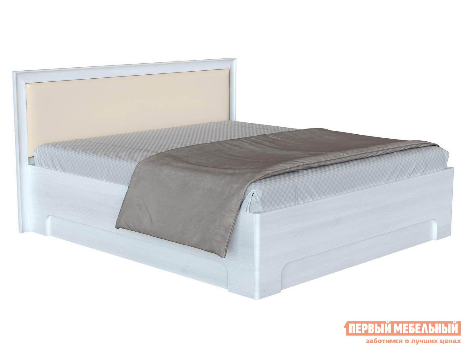 Двуспальная кровать с изголовьем из экокожи Первый Мебельный Прато 1 ПМ двуспальная кровать askona grace пм
