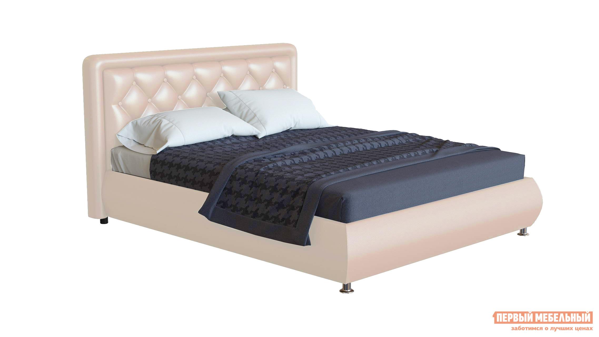 Двуспальная кровать с пуговицами Первый Мебельный Кровать Джорджия декор пуговицы 140х200, 160х200, 180х200 кровать амели 180х200