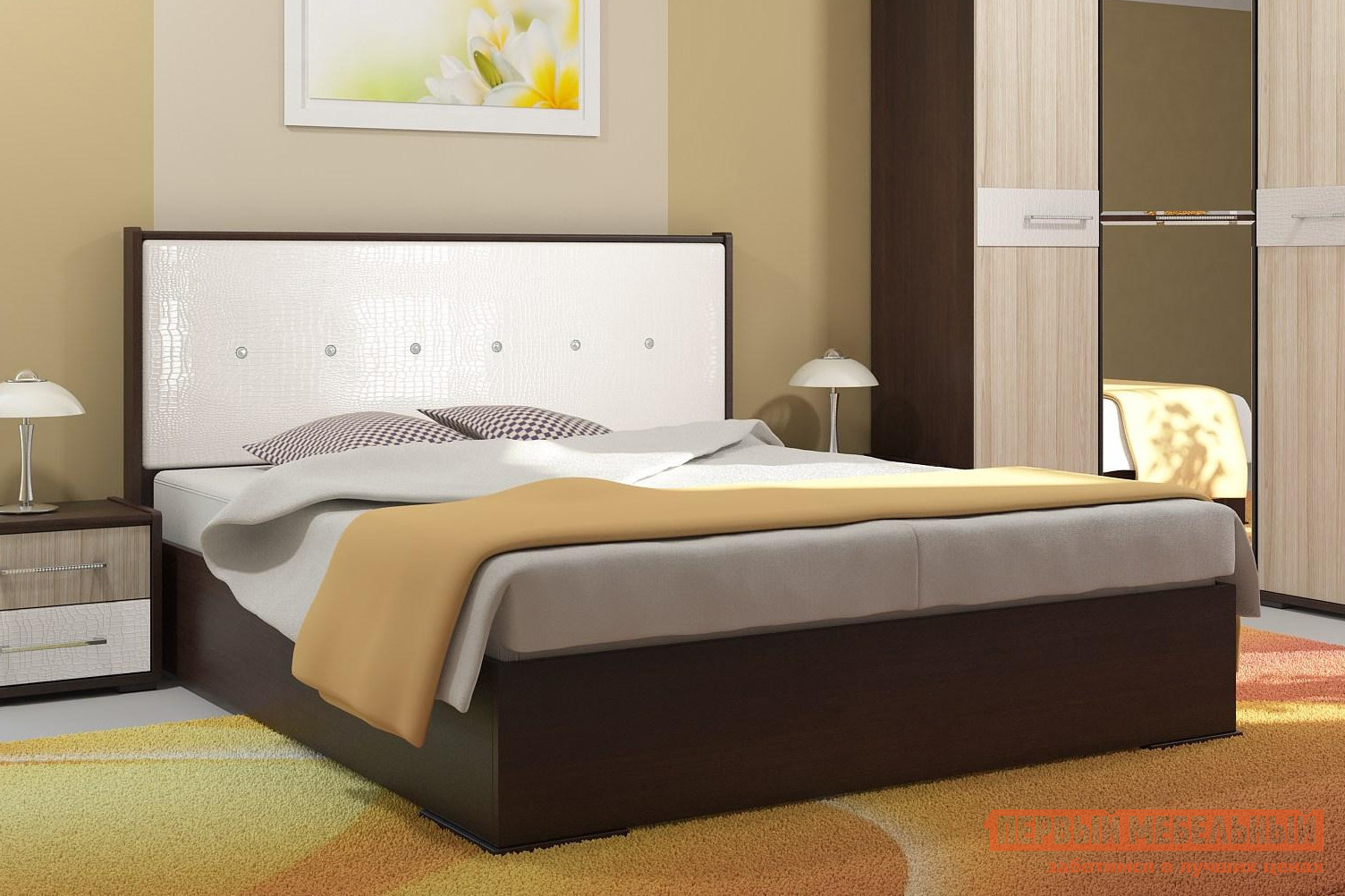 Двуспальная кровать Первый Мебельный Луиза tyler the creator tyler the creator wolf 2 lp 180 gr cd colour