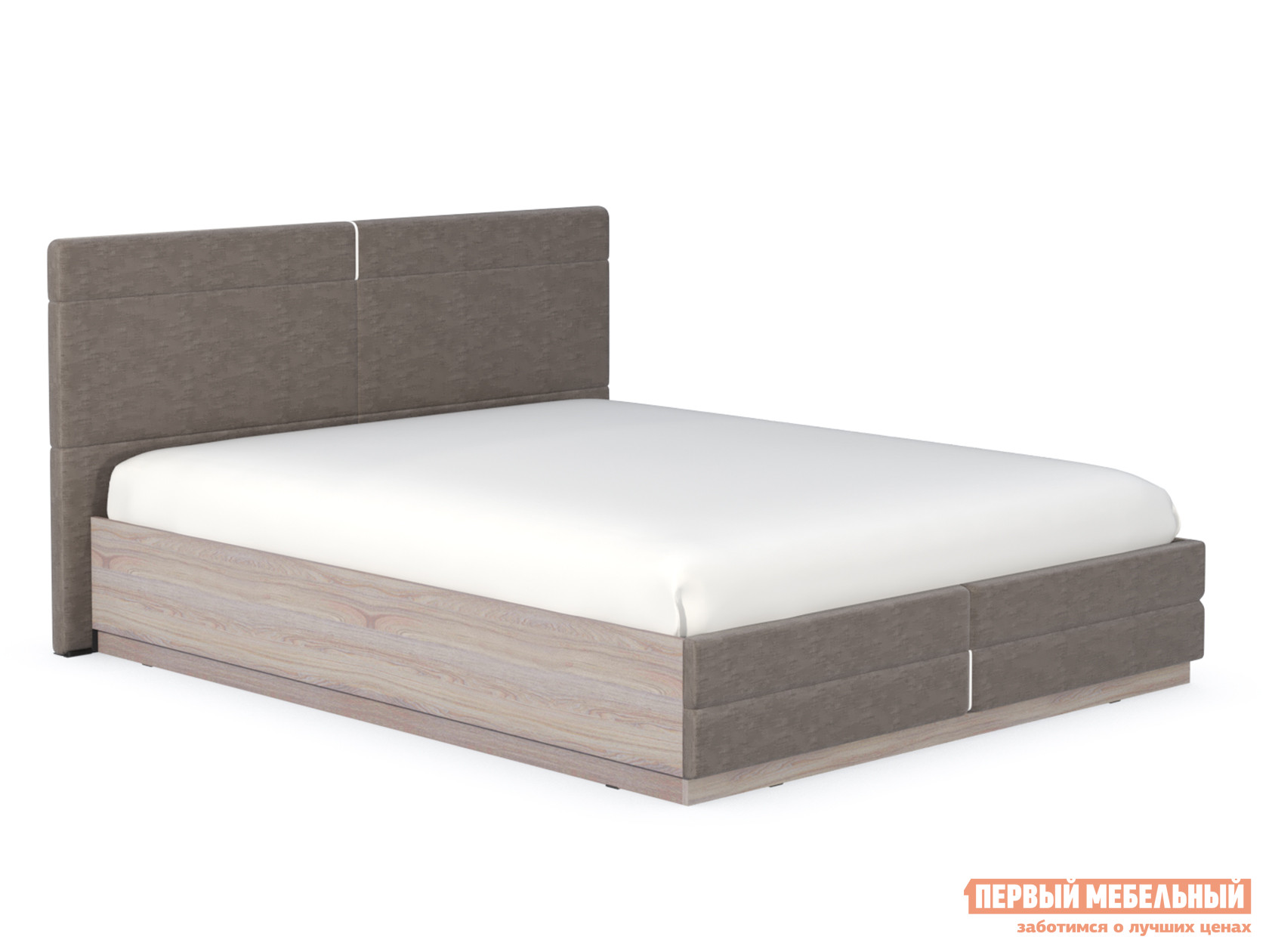 Двуспальная кровать  Элен Кровать двойная Ясень Анкор светлый / Саванна Латте, 1600 Х 2000 мм