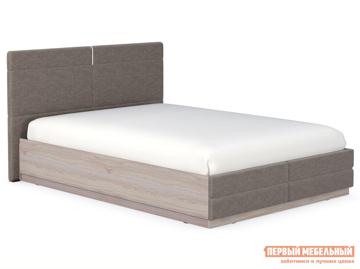 Двуспальная кровать  Элен Кровать двойная Ясень Анкор светлый / Саванна Латте, 1400 Х 2000 мм