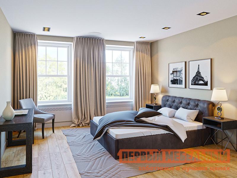 Двуспальная кровать со стразами Первый Мебельный Кровать Альбина 160х200