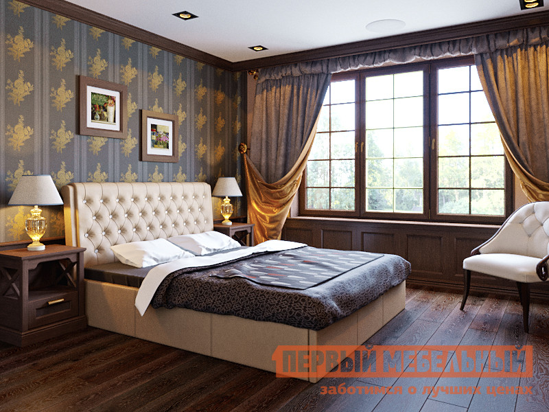 Кровать с подъемным механизмом Первый Мебельный Азалия интерьерная кровать азалия м486