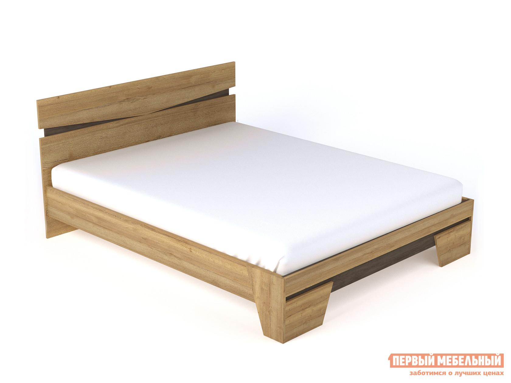 Двуспальная кровать Стреза 2 Дуб Галифакс / Бетон Чикаго, 160х200 см, Без основания фото