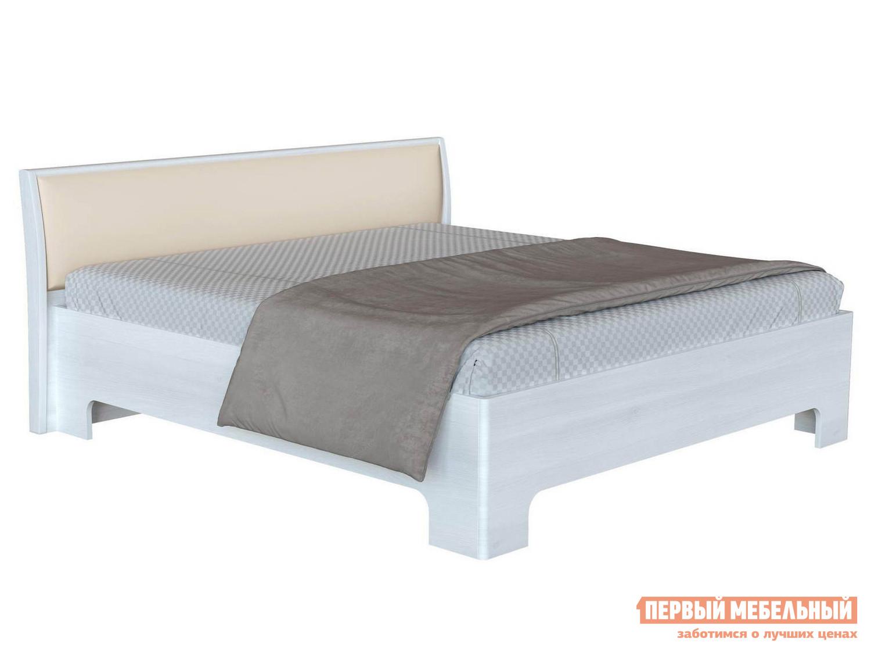 Двуспальная кровать с изголовьем из экокожи Первый Мебельный Прато 3 двуспальная кровать с изголовьем из экокожи первый мебельный капри 1