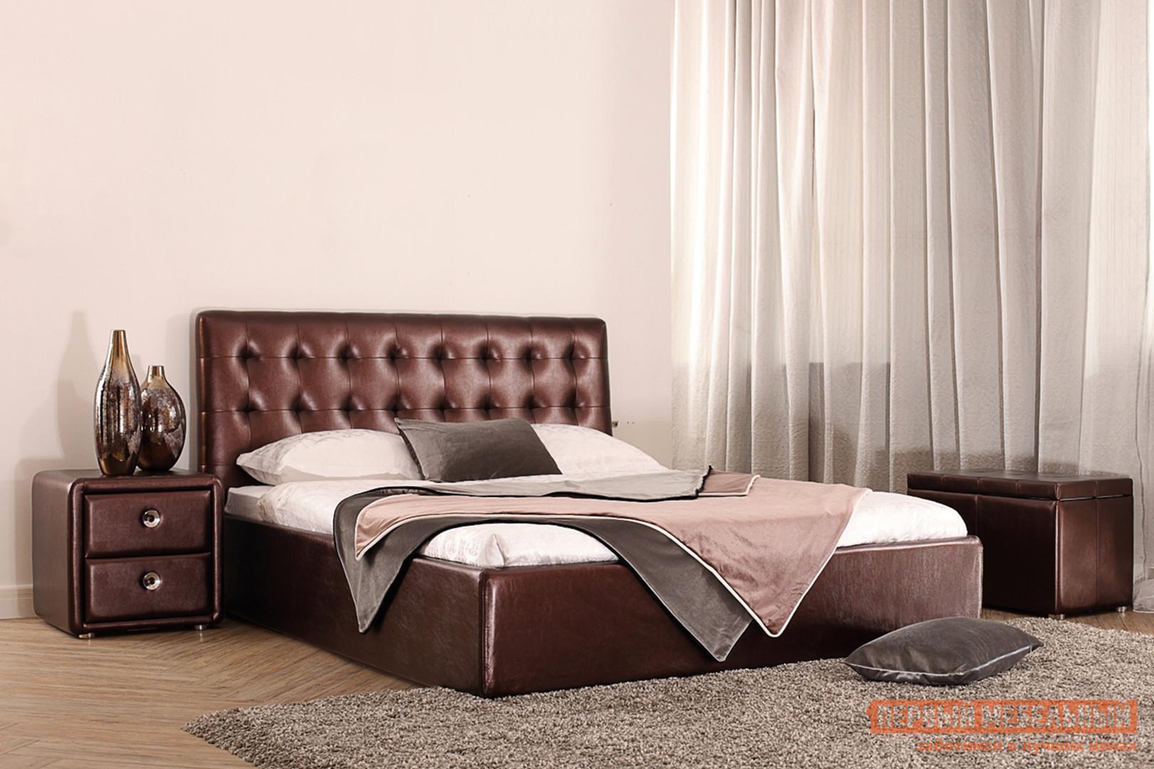 Двуспальная кровать Первый Мебельный Кровать Монреаль 140х200, 160х200, 180х200 кровать амели 180х200