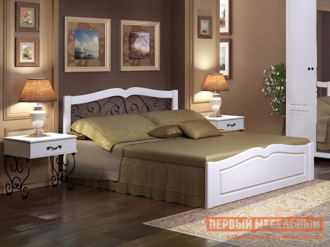 Кровать ТД Арника Лукреция 05 с ПМ изголовье кровати с полками тд арника принесса 08
