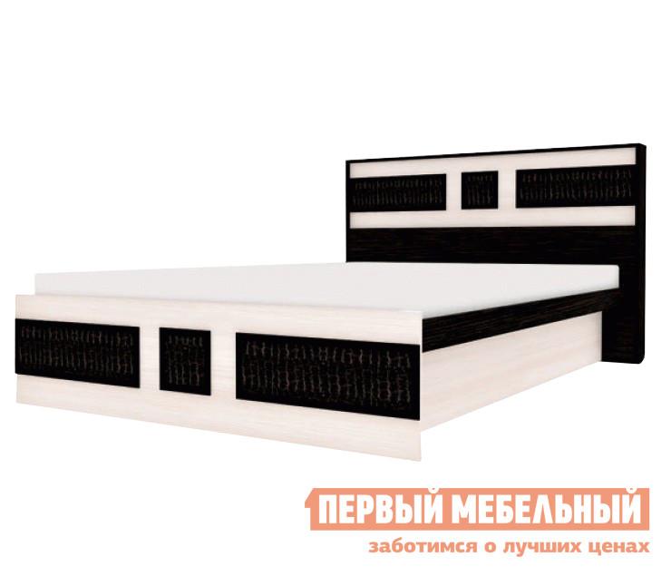 Фото Кровать Первый Мебельный Конго ДК ПМ Венге / Дуб, 140х200. Купить с доставкой