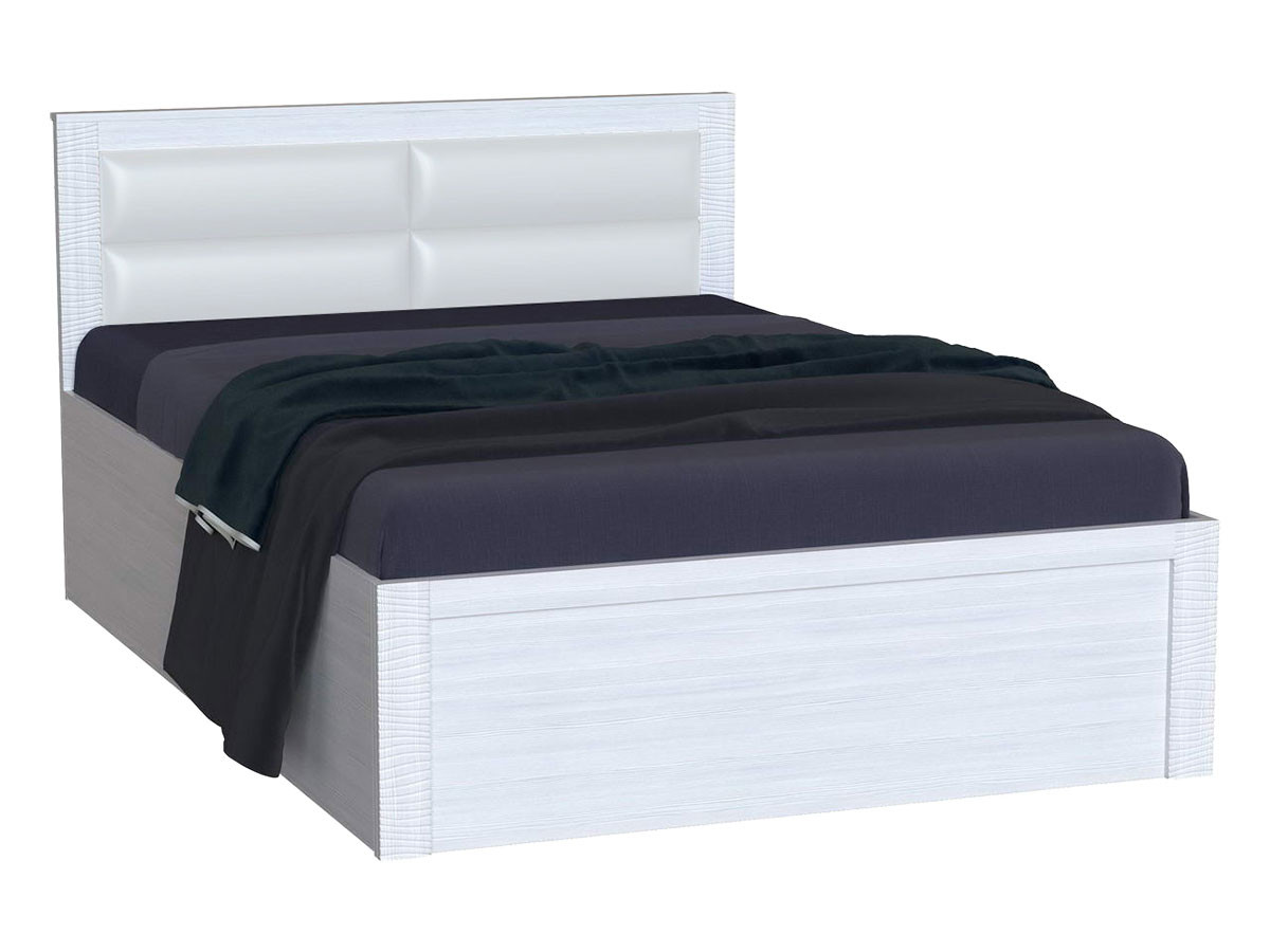 Двуспальная кровать  Элегия Лиственница светлая, 160х200 см РДМ 71007
