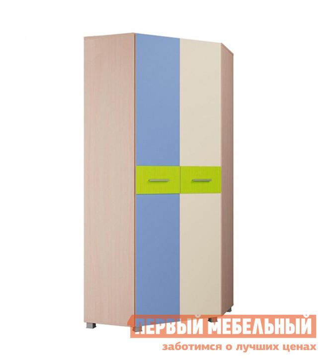 Угловой детский шкаф Первый Мебельный Шкаф угловой Лайк, дуб молочный/мультицвет