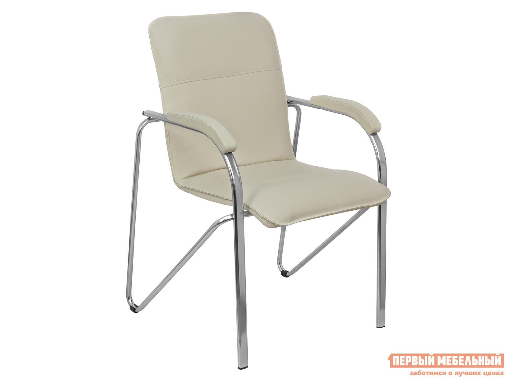 Офисный стул  SAMBA AKS-1 Кремовый, экокожа, Мягкие Базистрейд 137649