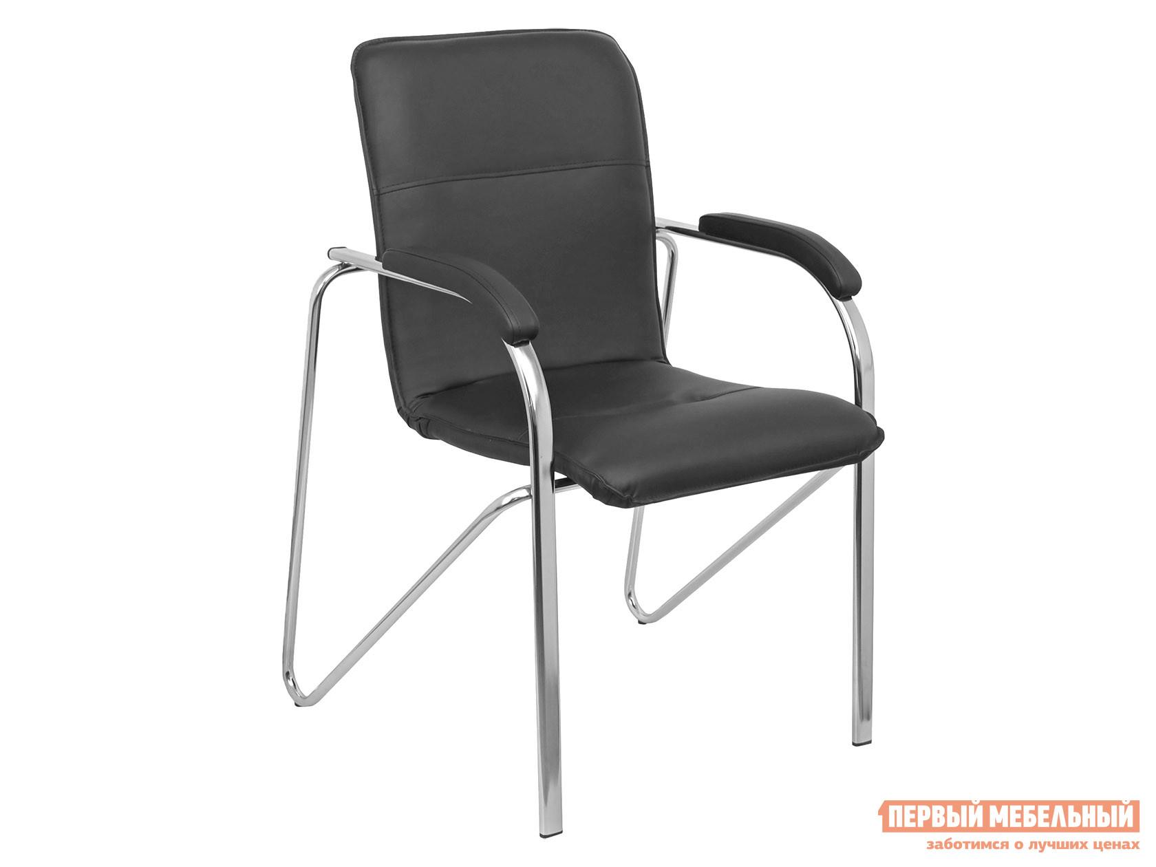 Офисный стул  SAMBA AKS-1 Черный, экокожа, Мягкие Базистрейд 137653