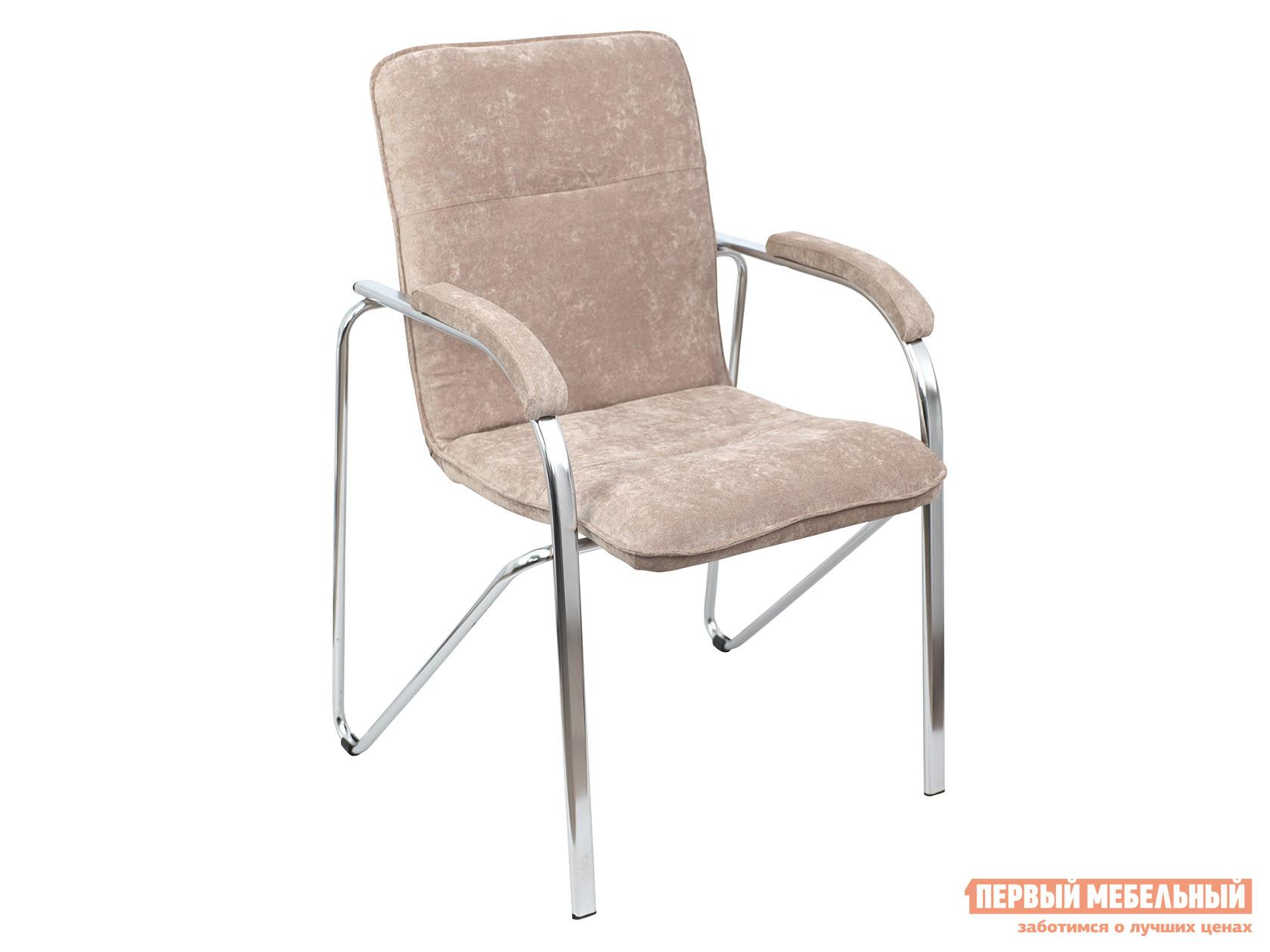 Офисный стул  SAMBA AKS-1 Бежевый, велюр, Мягкие Базистрейд 137647