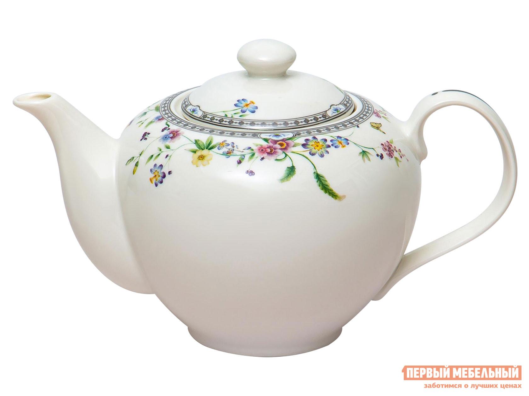 Заварочный чайник  Мануэла Белый, фарфор