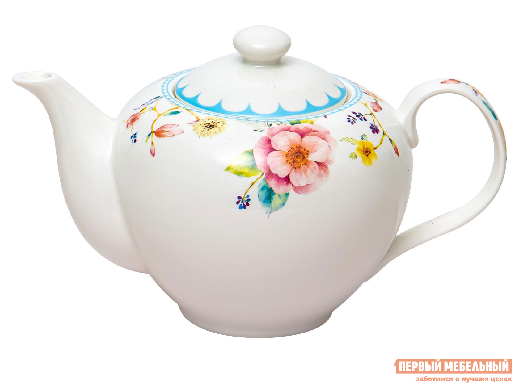 Заварочный чайник  Арома Белый, фарфор