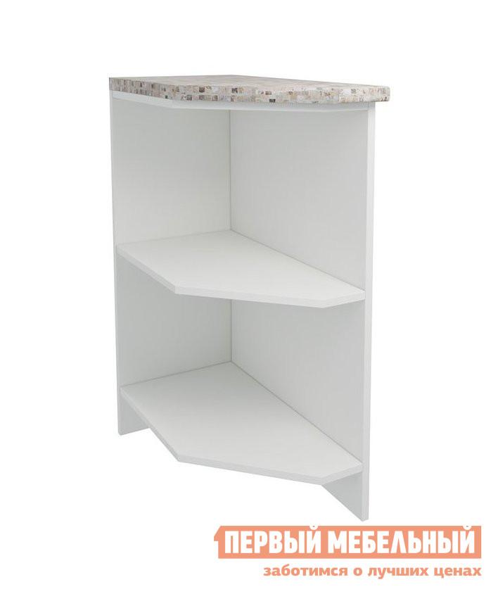 Кухонный стол ПМ: РДМ Стол открытый торцевой скошенный 40 см Агава Белый, Правый от Купистол
