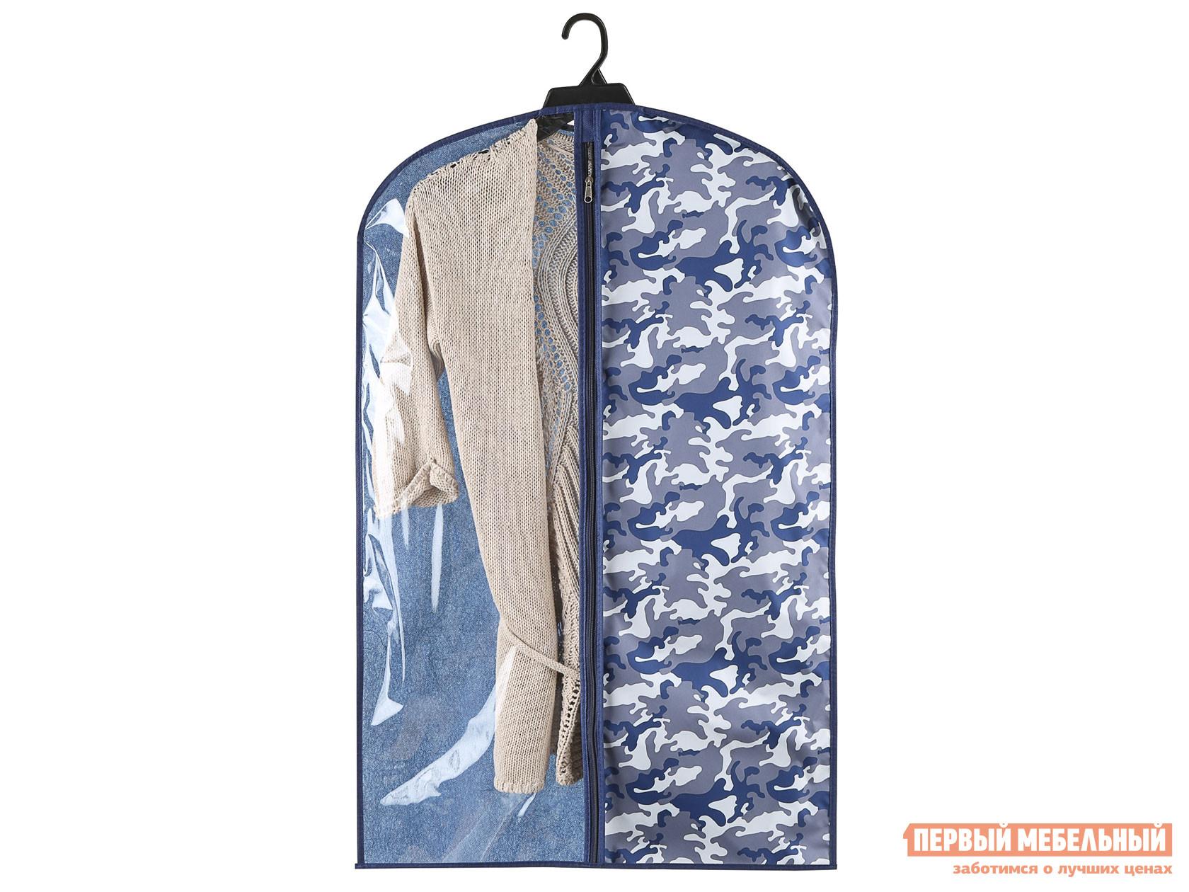 Кофр Чехол для одежды малый 60х100см Камо Нейви, спанбонд фото