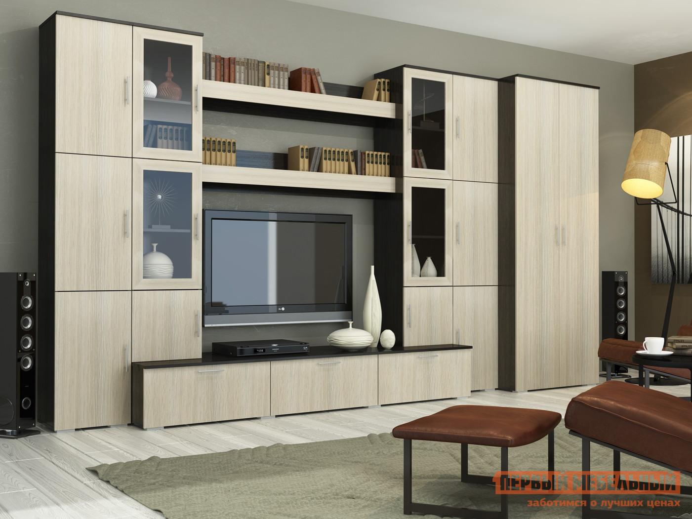 Стенка в гостиную Первый Мебельный Бордо 1