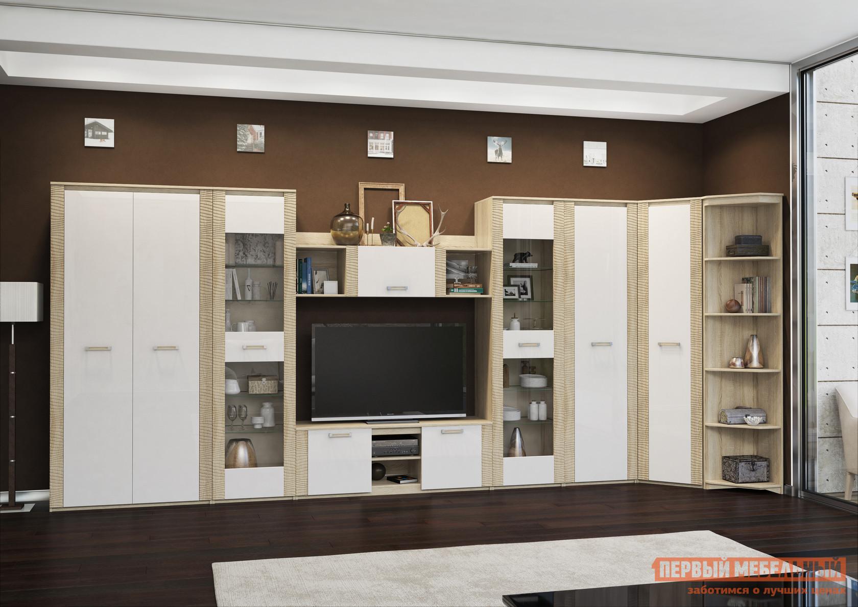 Модульная угловая стенка в гостиную Первый Мебельный Элегия 2 модульная стенка ритм 1