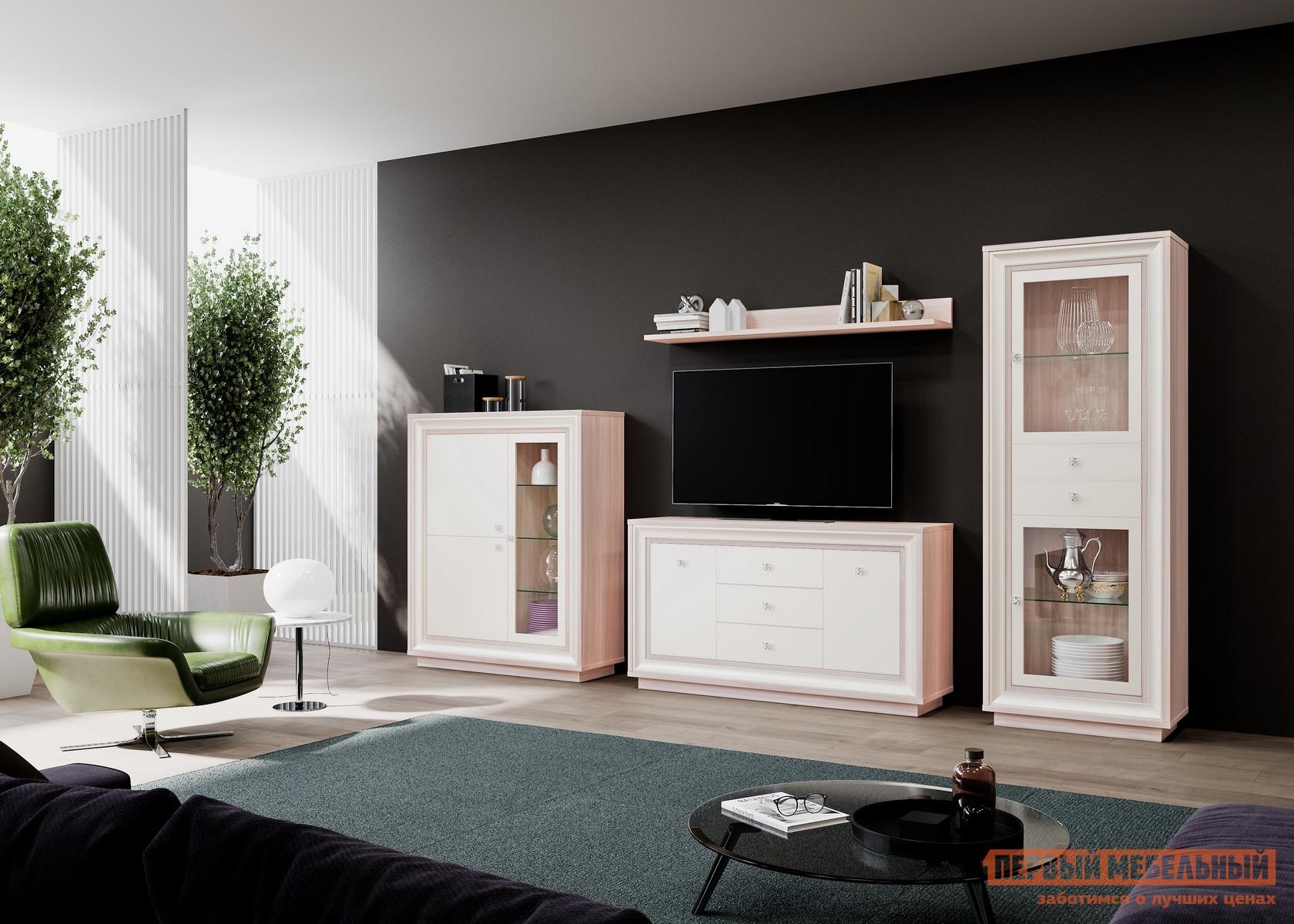 Стенка в гостиную в классическом стиле Первый Мебельный Прато 2 К1