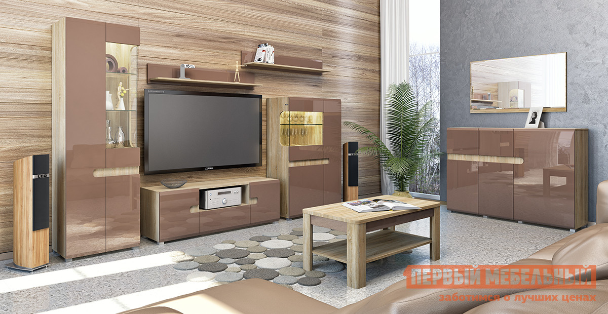 Гостиная Первый Мебельный Леонардо К2