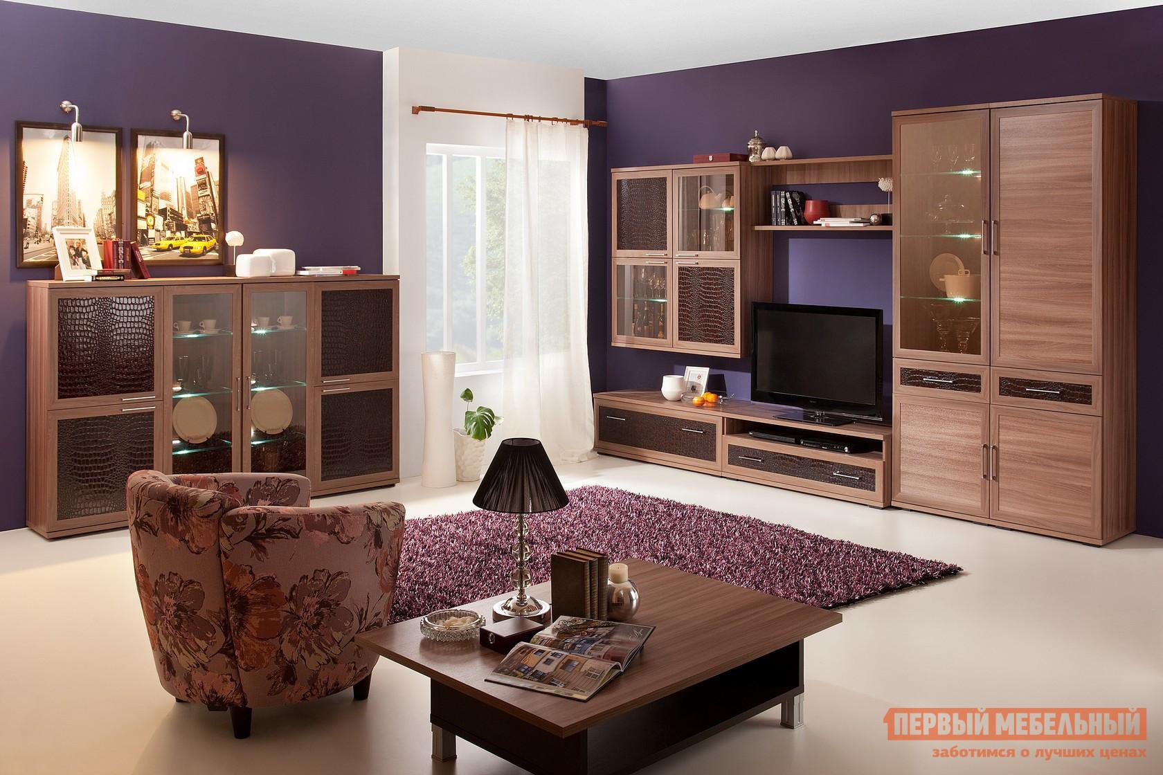 Стенка в гостиную Первый Мебельный Парма Люкс К4