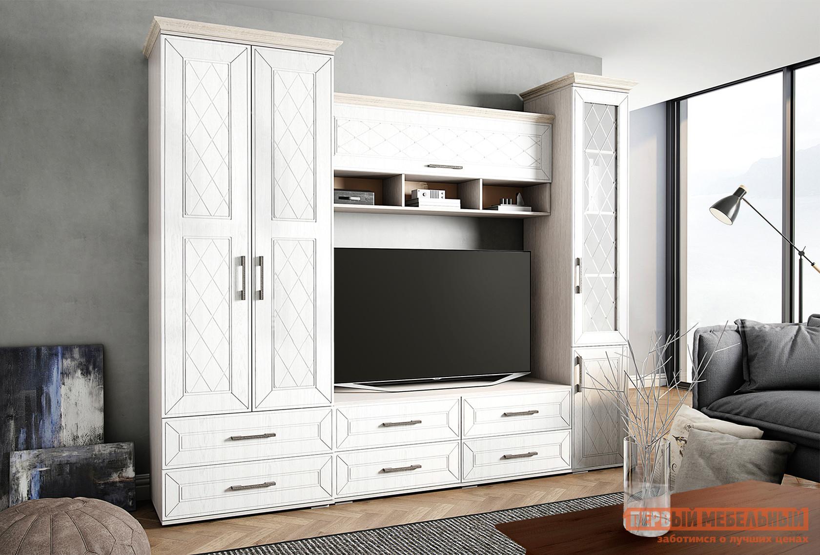 Стенка-горка в гостиную Первый Мебельный Британика К1