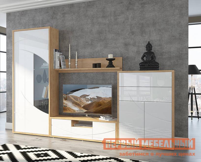 купить Глянцевая стенка для гостиной Первый Мебельный Гостиная Мадера по цене 38160 рублей
