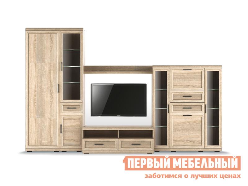 Стенка в гостиную Первый Мебельный Вега Прованс композиция 5
