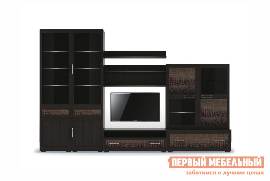 Модульная стенка в гостиную Первый Мебельный Парма Люкс К5 модульная стенка ритм 1