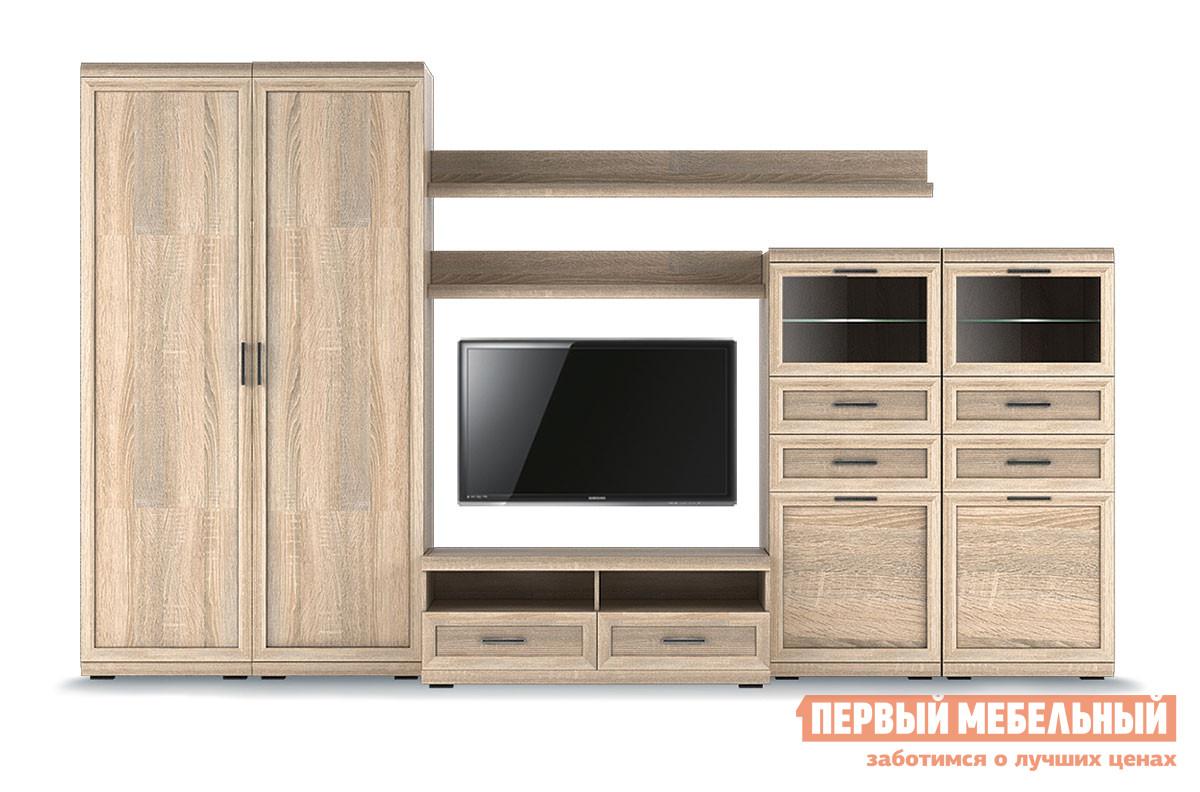 Стенка в гостиную Первый Мебельный Вега Прованс композиция 7 стенка модерн 7