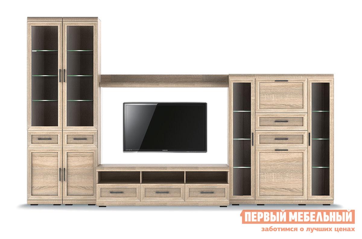 Стенка в гостиную Первый Мебельный Вега Прованс композиция 6 стенка вега
