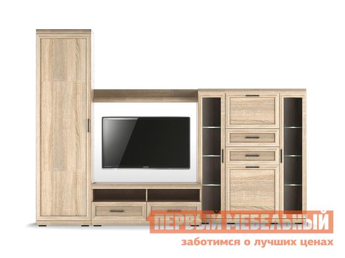 Стенка в гостиную Первый Мебельный Вега Прованс композиция 4 стенка вега
