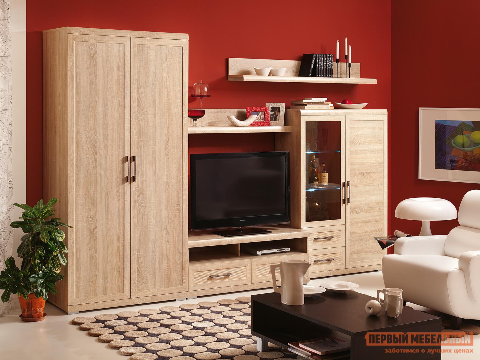Стенка в гостиную Первый Мебельный Вега Прованс 1