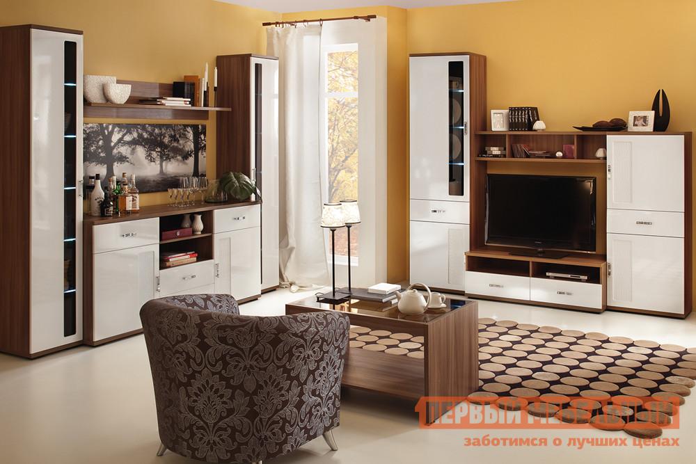 Глянцевая стенка в гостиную Первый Мебельный Вега Нео 3