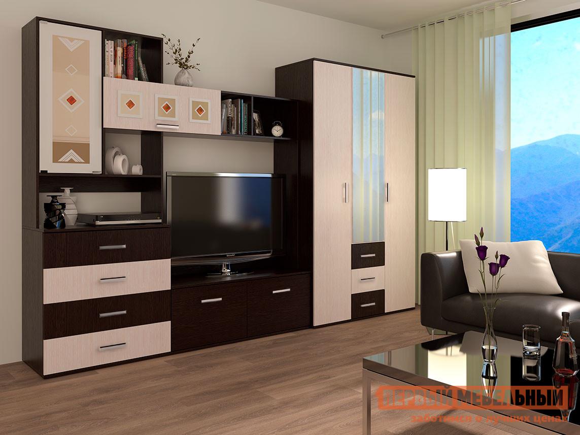 Стенка в гостиную Первый Мебельный Белла