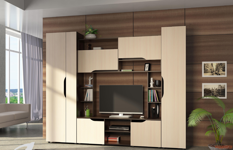 Стенка в гостиную Первый Мебельный Атлантида-11