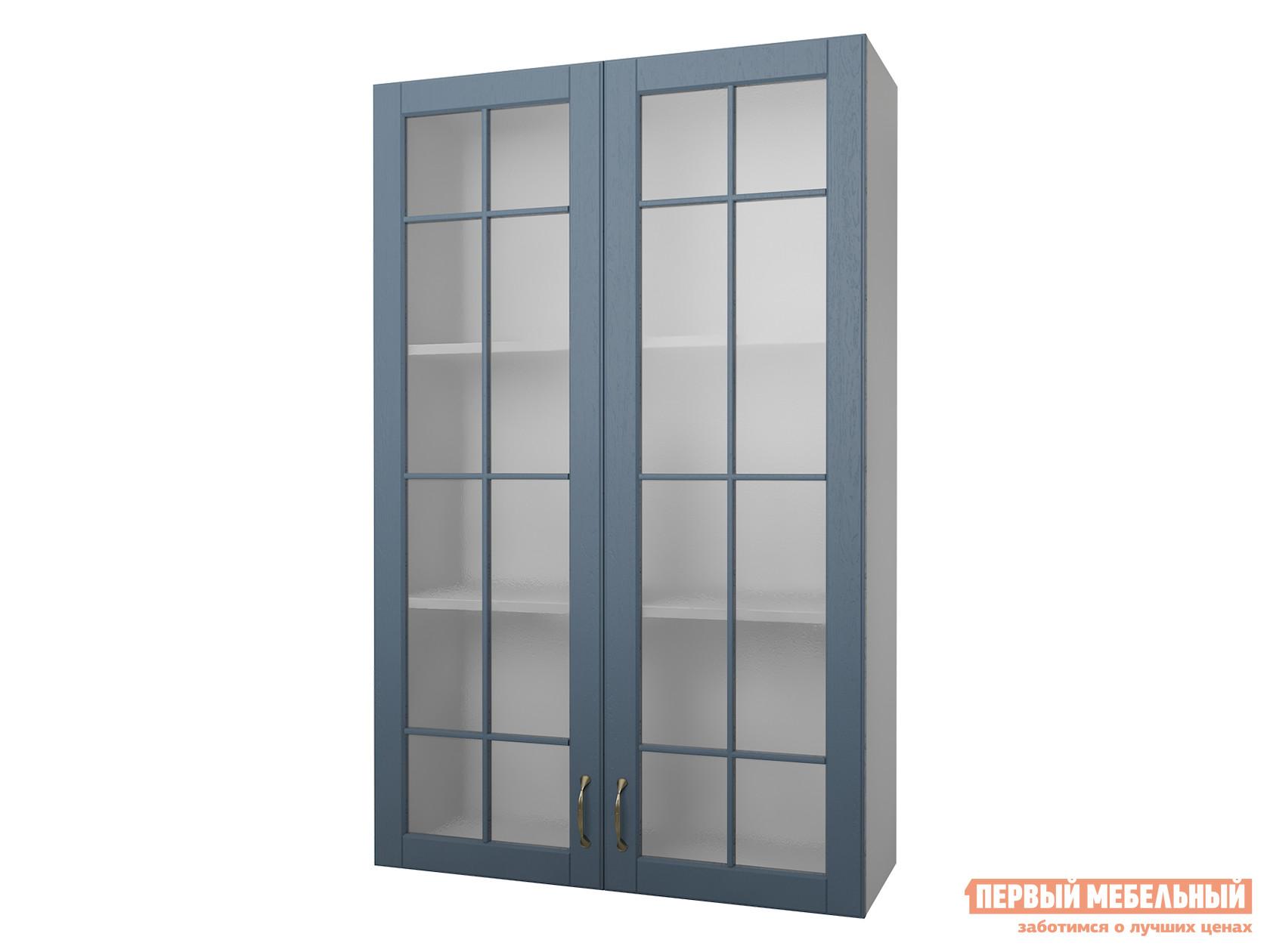 Кухонный модуль Первый Мебельный Полупенал навесной Н=130 см 2 двери со стеклом 80 см Палермо вытяжка со стеклом best plana white 80